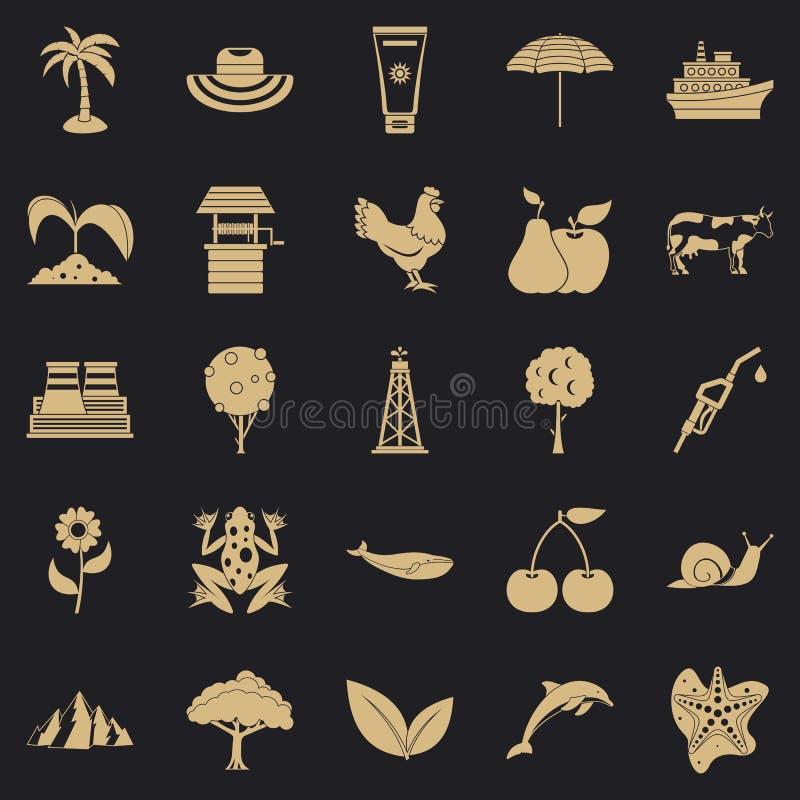 Insieme calorico delle icone, stile semplice illustrazione di stock
