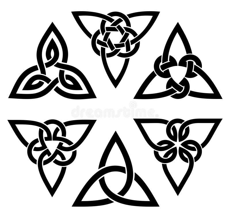 Insieme celtico del nodo della trinità fotografia stock