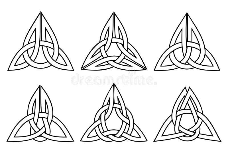 Insieme celtico del nodo della trinità immagine stock