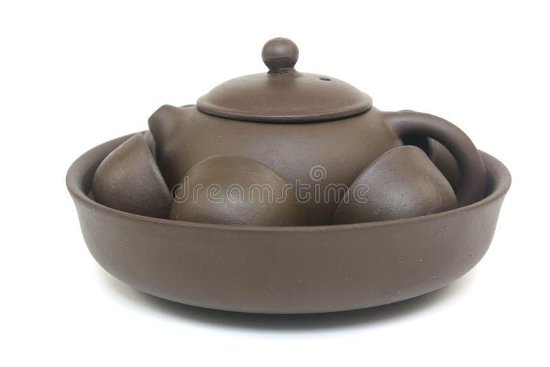 Insieme cinese del POT del tè fotografia stock