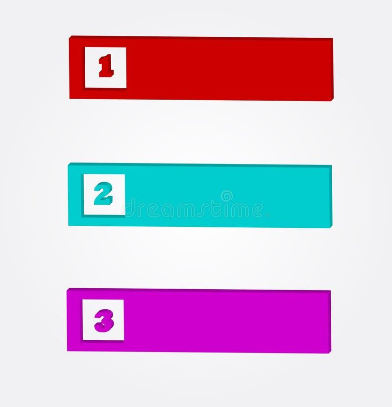 Insieme colorato del bottone di Web illustrazione vettoriale