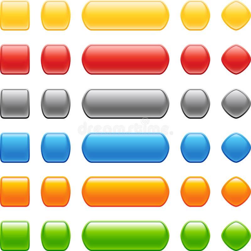 Insieme colorato del tasto di stile illustrazione vettoriale