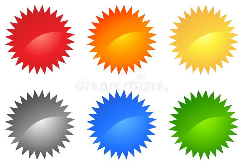Insieme colorato di Web 2.0 illustrazione di stock