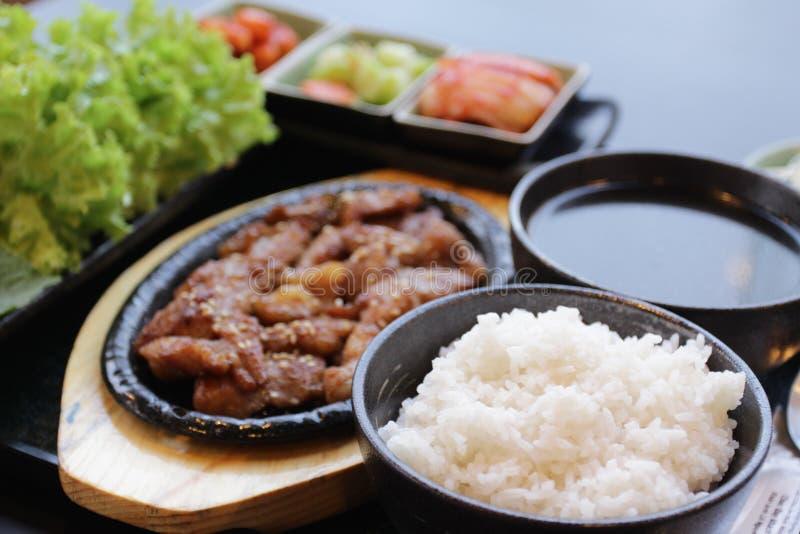 Insieme coreano dell'alimento fotografia stock libera da diritti