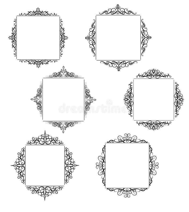 Insieme d'annata della struttura di turbinio di vettore royalty illustrazione gratis