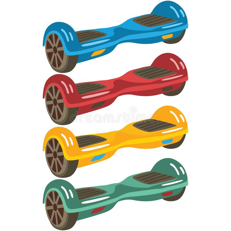 Insieme d'equilibratura di auto elettrico illustrazione di stock