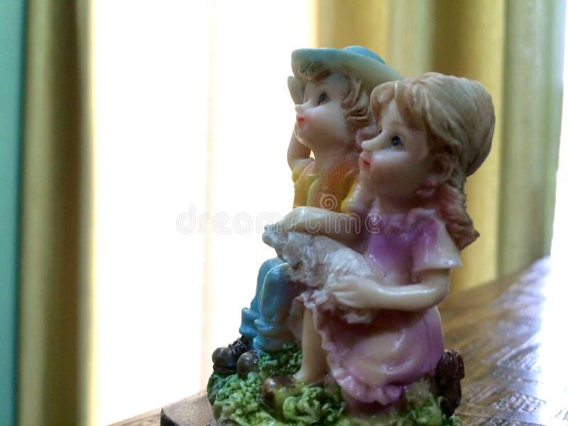 Insieme decorativo sveglio del ragazzo e della ragazza fotografie stock