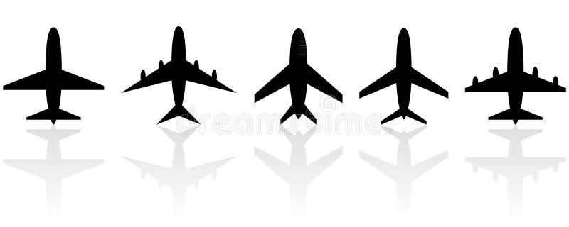 Insieme degli aeroplani differenti. illustrazione di stock