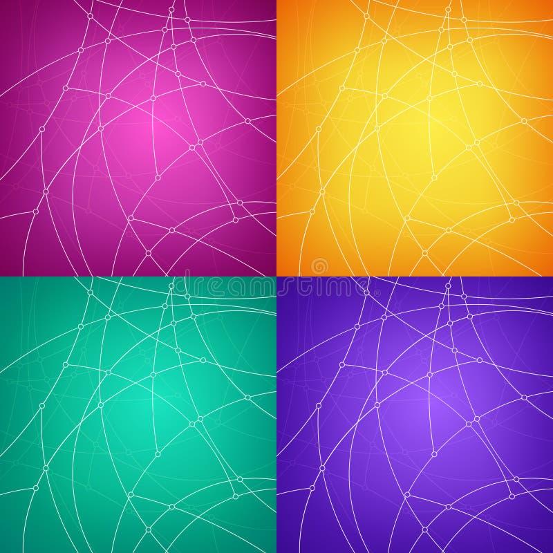 Insieme degli ambiti di provenienza geometrici astratti variopinti illustrazione vettoriale