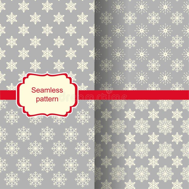 Insieme degli ambiti di provenienza senza cuciture con il modello di Natale illustrazione vettoriale