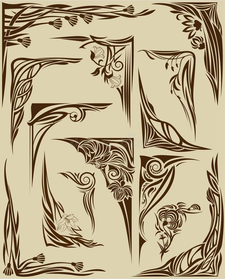 Insieme degli angoli illustrazione vettoriale
