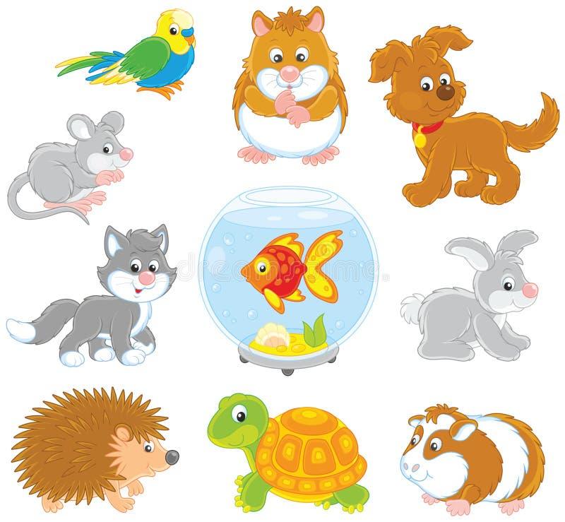 Insieme degli animali domestici royalty illustrazione gratis