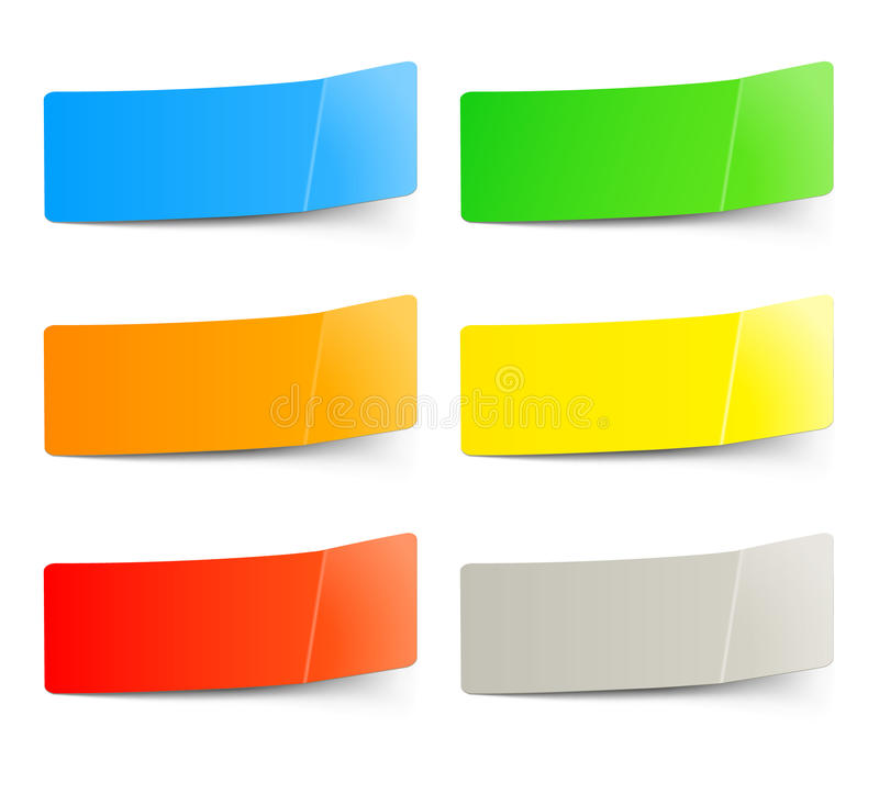 Insieme degli autoadesivi multicolori illustrazione di stock