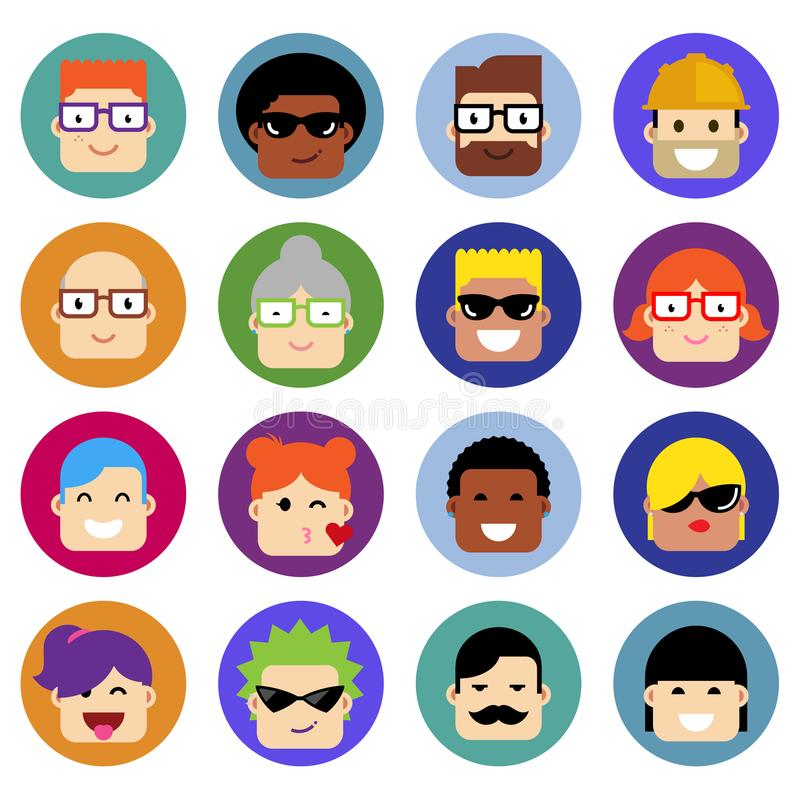 Insieme degli avatar fotografie stock libere da diritti