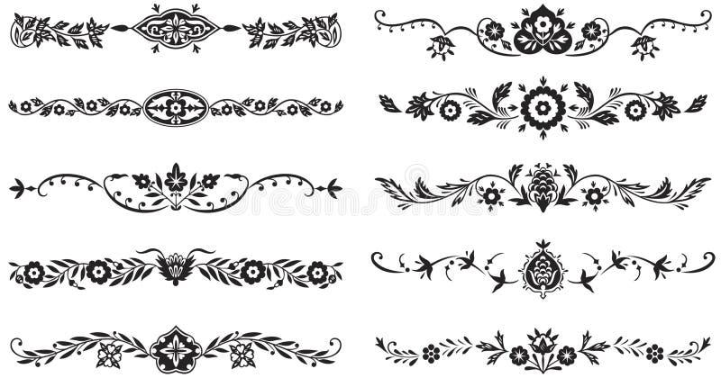 Insieme degli elementi decorativi royalty illustrazione gratis