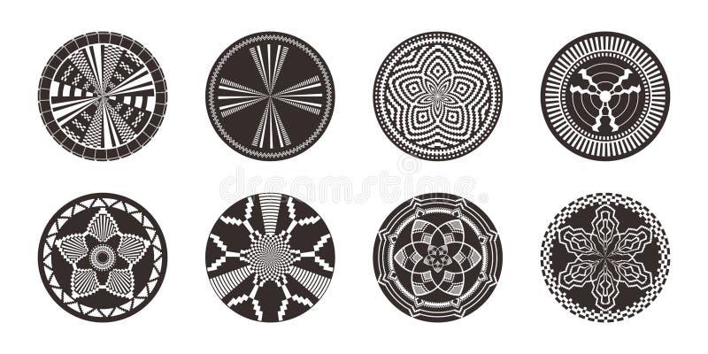 Insieme degli elementi decorativi africani Stampa tribale royalty illustrazione gratis