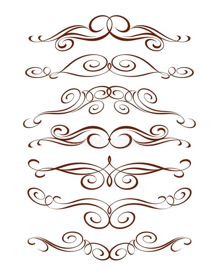 Insieme degli elementi decorativi Illustrazione di vettore Ben costruito per la pubblicazione facile illustrazione vettoriale