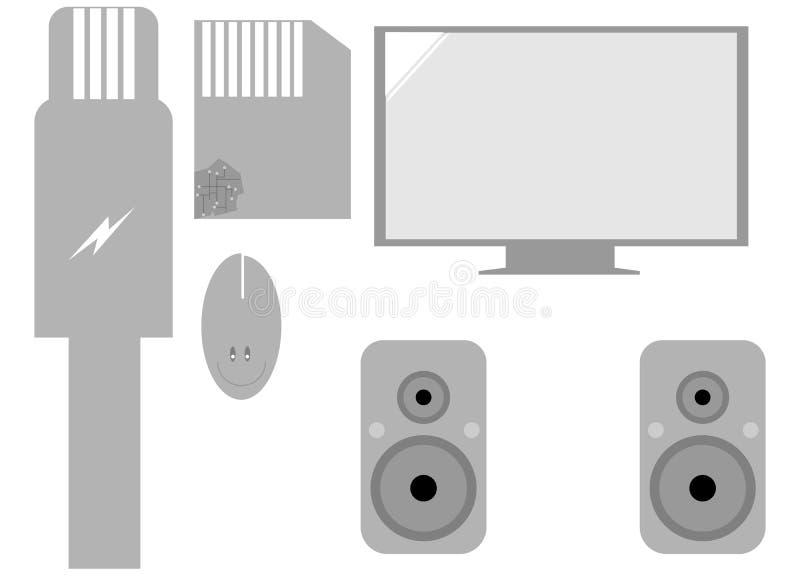 Insieme degli elementi del computer immagine stock libera da diritti