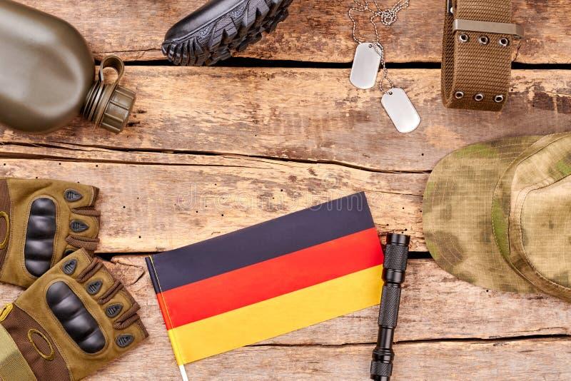 Insieme degli elementi del soldato dell'esercito di deutsch fotografia stock