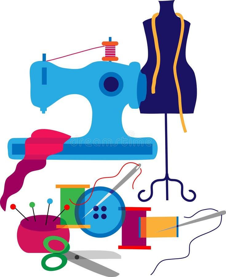 Insieme degli elementi dello stilista illustrazione di stock