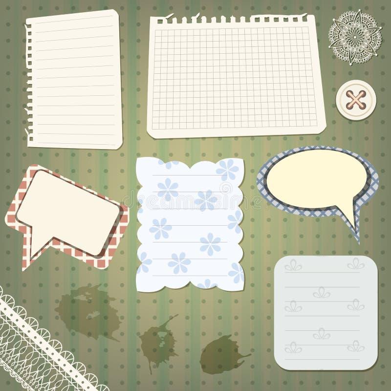 Insieme degli elementi di disegno dell'album illustrazione di stock