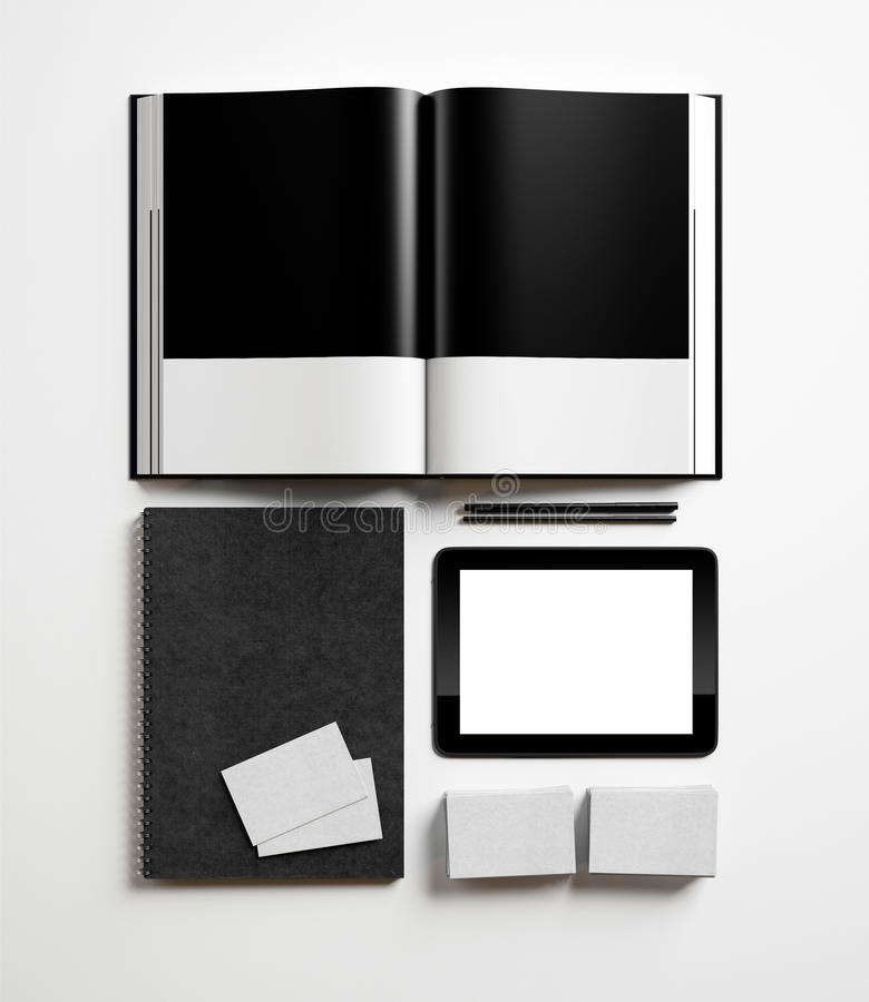 Insieme degli elementi di identità fotografia stock libera da diritti