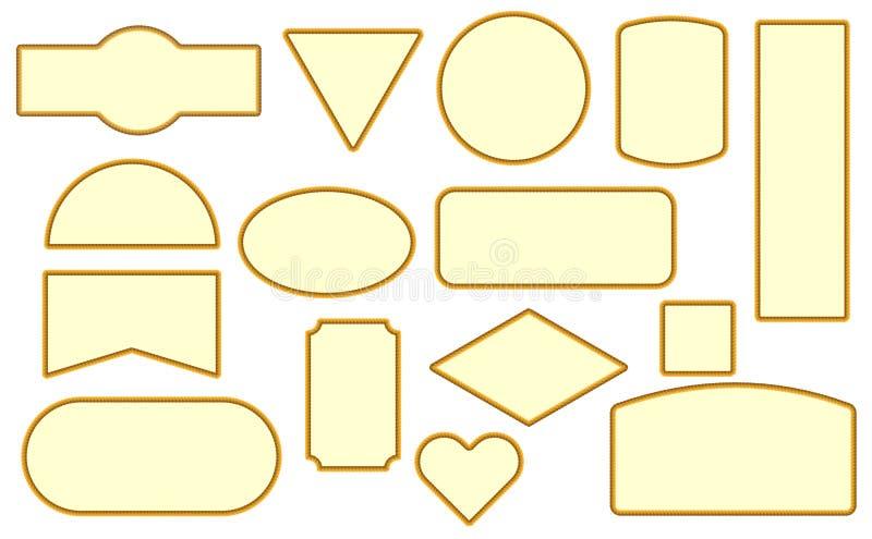 Insieme degli elementi di progettazione della pagina della corda illustrazione vettoriale
