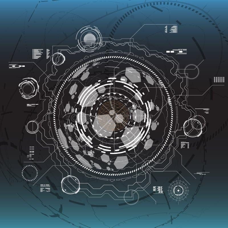 Insieme degli elementi infographic in bianco e nero Elementi di esposizione agili per il web ed il app Interfaccia utente futuris illustrazione di stock