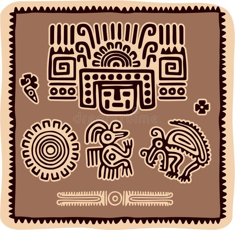 Insieme degli elementi messicani di disegno royalty illustrazione gratis