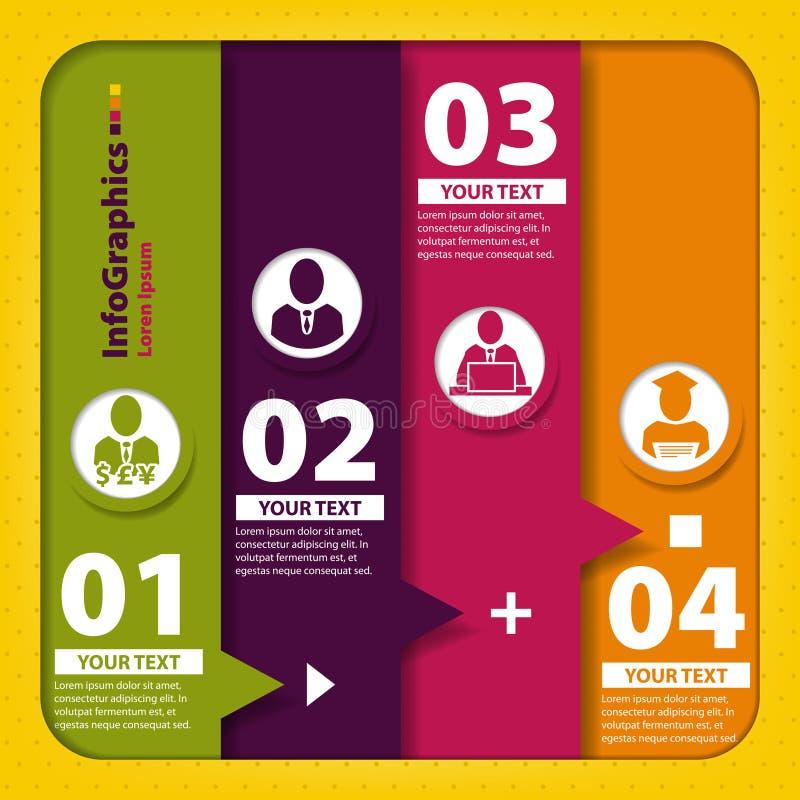 Insieme degli elementi per il infographics illustrazione di stock