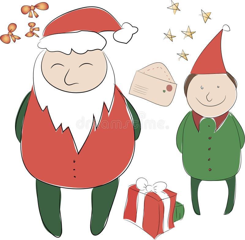 Insieme degli elementi per la decorazione di Natale o del nuovo anno Il Babbo Natale _2 fotografia stock