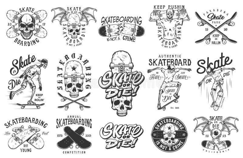 Insieme degli emblemi illustrazione vettoriale