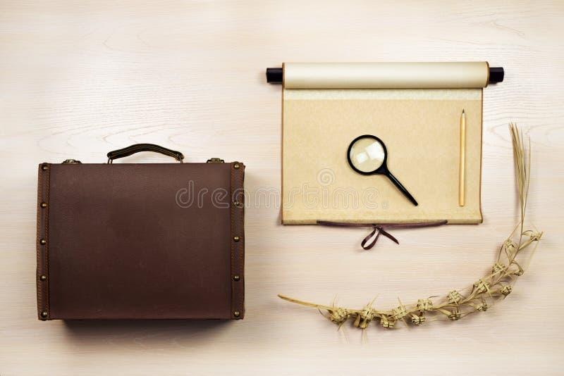 Insieme degli oggetti di viaggio fotografie stock