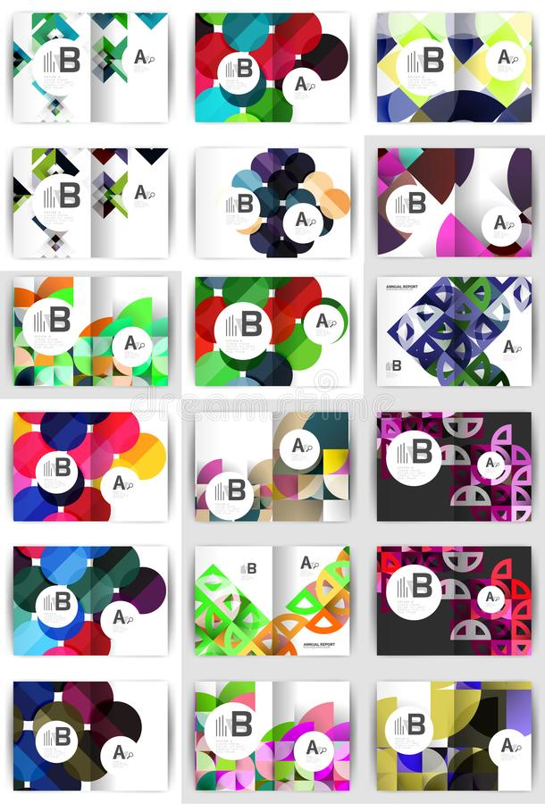 Insieme degli opuscoli geometrici di affari A4 royalty illustrazione gratis