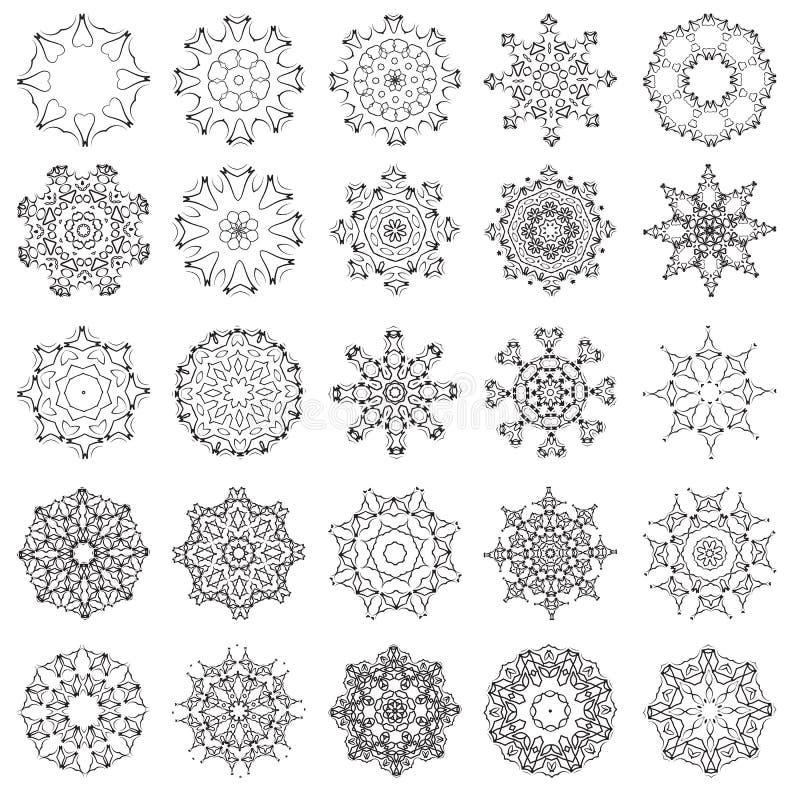Insieme degli ornamenti rotondi illustrazione vettoriale