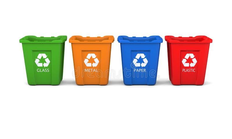 Insieme degli scomparti di riciclaggio royalty illustrazione gratis