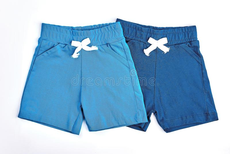 Insieme degli shorts colorati del cotone per i bambini fotografie stock
