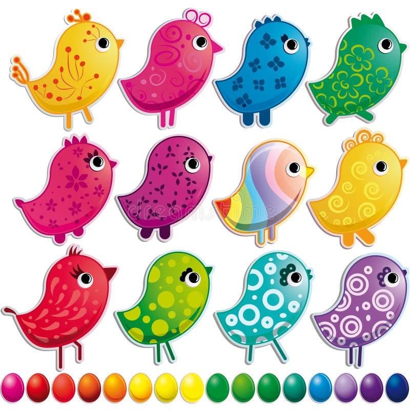 Insieme degli uccelli illustrazione di stock