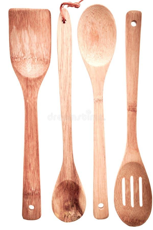 Insieme Degli Utensili Da Cucina Di Legno Fotografia Stock