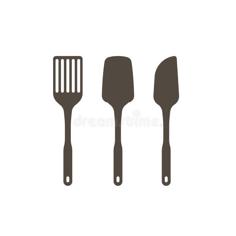 Insieme degli utensili della cucina illustrazione vettoriale