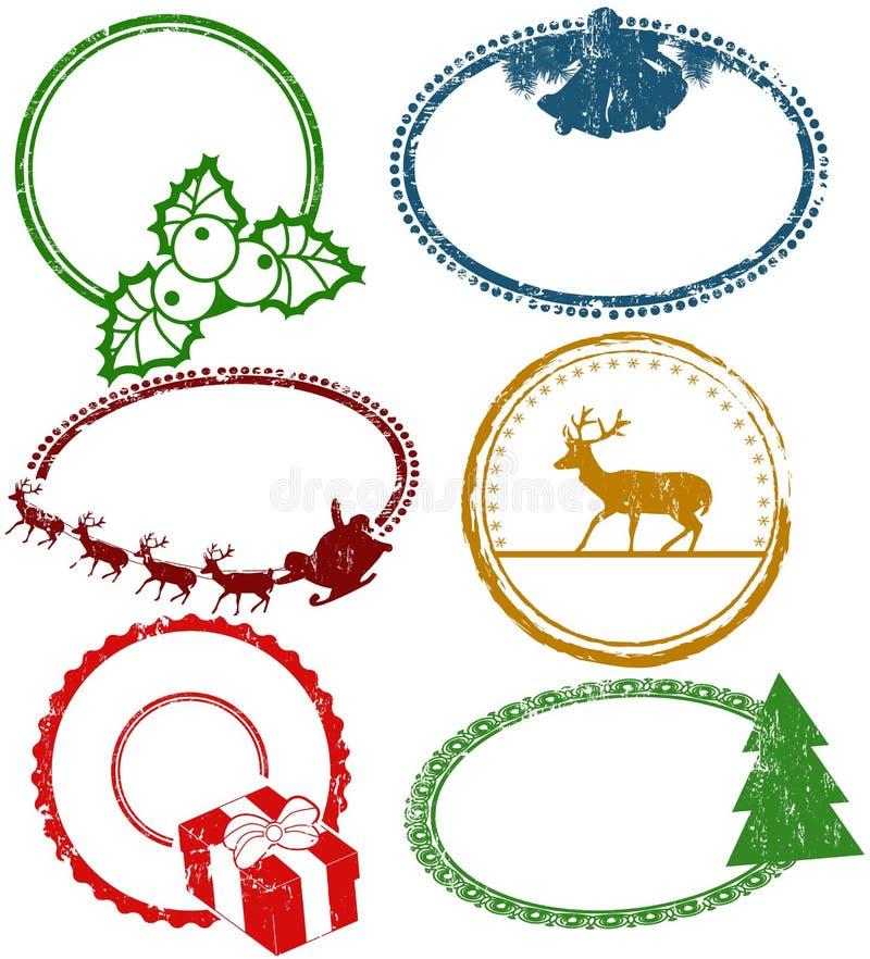Insieme dei bolli di Natale illustrazione di stock