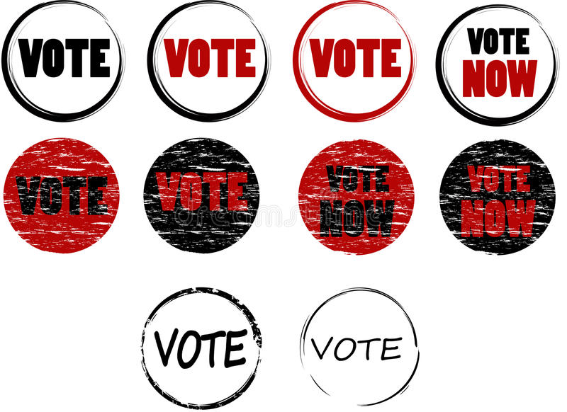 Insieme dei bolli di voto illustrazione vettoriale
