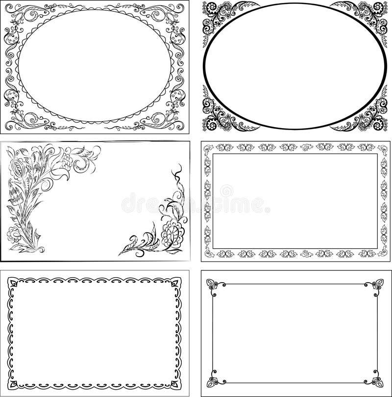 insieme dei bordi dell'annata royalty illustrazione gratis