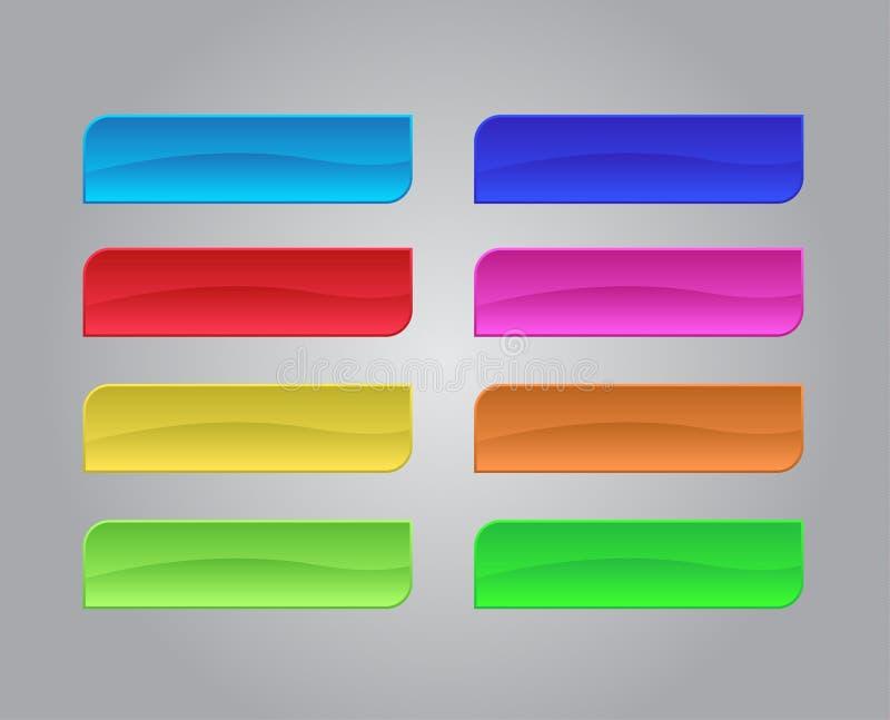 Insieme dei bottoni colorati di web illustrazione vettoriale
