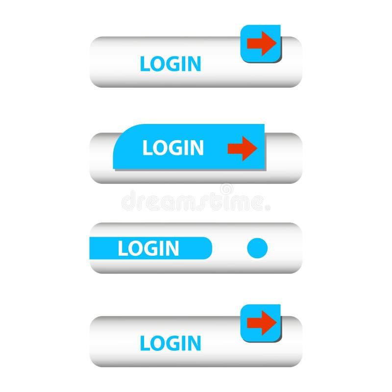 Insieme dei bottoni di connessione illustrazione di stock