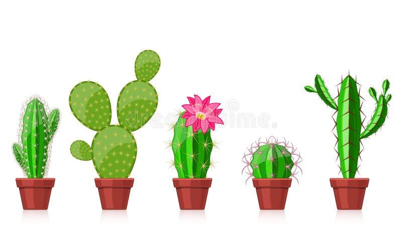 Insieme dei cactus royalty illustrazione gratis