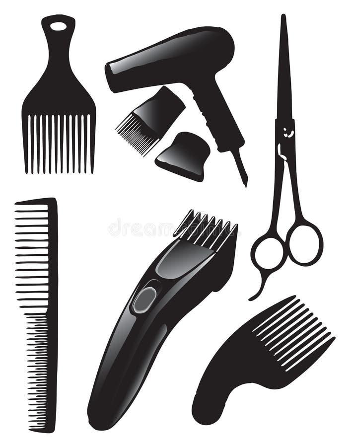 Insieme dei capelli illustrazione vettoriale