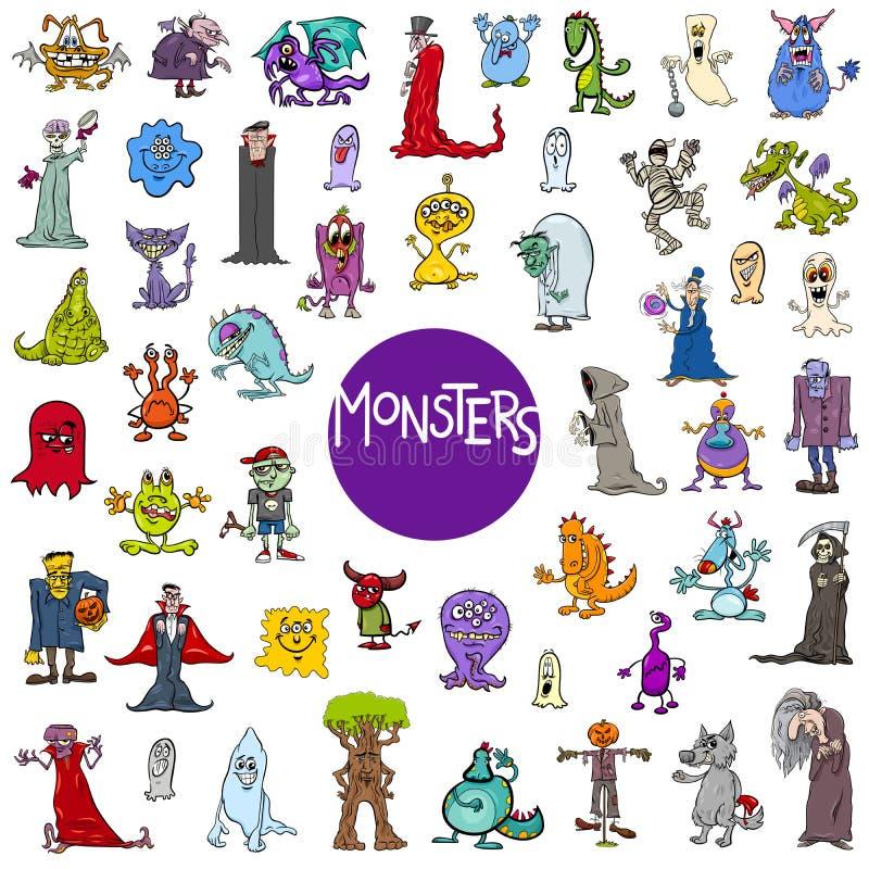 Insieme dei caratteri del mostro del fumetto grande royalty illustrazione gratis