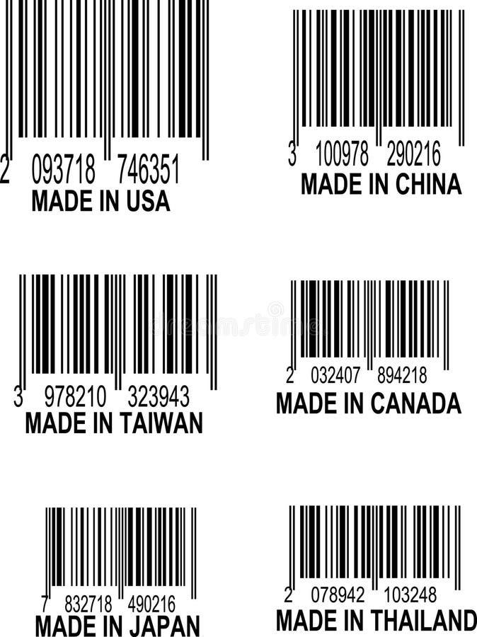 Insieme dei codici a barre di UPC immagini stock