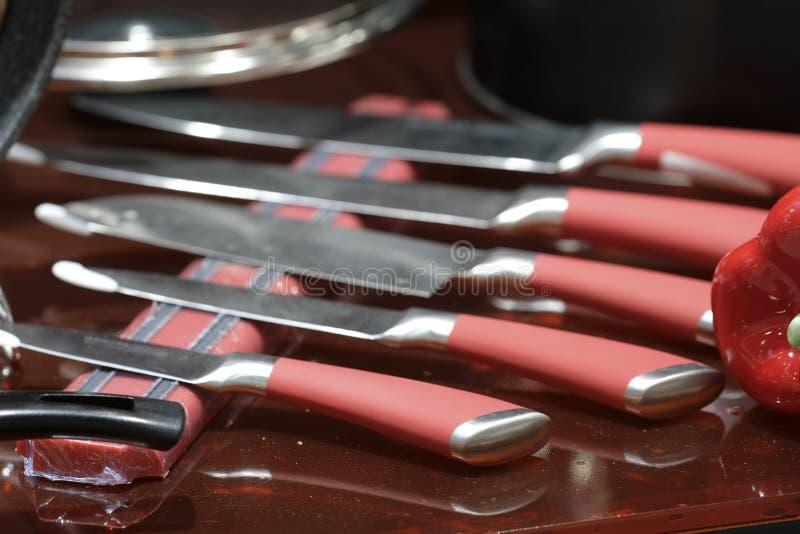 Insieme dei coltelli fotografie stock libere da diritti